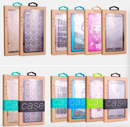Iphone case package paper online shopping - 100pcs NEW Retail kraft Paper Package Packing Paper Box For Mobile Phone Case Accessories