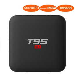 Top 3d movies online shopping - Android7 TV Box with LED Display Amlogic S905W Quad Core T95 S1 Smart Mini PC for Home Movie D K Meida Player G Wifi Set Top Box