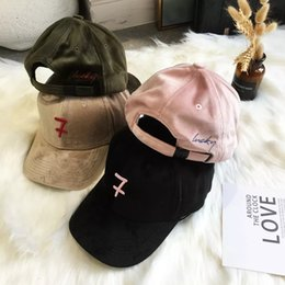b6bb6ad9a59 Baseball cap girl autumn winter R letter ulzzang Korean version of hipster  corduroy casual joker student cap