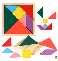 Wholesale Wholesale - 2018 New Hot Sale Children getting Development Tangram Wooden Jigsaw Puzzle Educational Toys for Kids