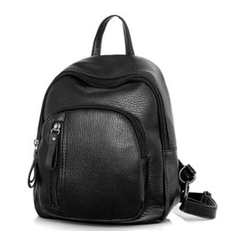 Chinese  2018 Women Backpack PU Leather Female Casual Students School Bags For Teenagers Girls Pretty Small Black Fashion Backpacks manufacturers