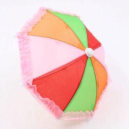 girls umbrellas 2019 - 2018 House Play Umbrella Foldable Handmade Toys Umbrella Mini Entertainment Toys Mini Rainbow Role Play Drop Shipping ch