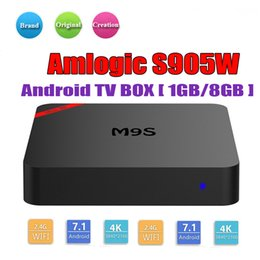 M8s Android Tv Boxes Australia - Hot M9S Mini Android TV Box Amlogic S905W Quad Core 1GB 8GB Android 7.1 Smart Media Player Support IPTV 2.4G Wifi Better MXQ Pro M8S Plus W