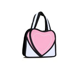 PaPer shoulders online shopping - 3D Jump Style D Drawing Cartoon Paper Bag love Comic Paper Backpack cute Unisex Knapsack Fashion comic Novelty Student Bag