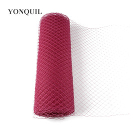 $enCountryForm.capitalKeyWord UK - Rouge Birdcage Veils 25 CM For women Mesh Veils fascinator Millinery Hat nettings material DIY Hair accessories 10yard lot free shipping