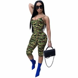 $enCountryForm.capitalKeyWord NZ - Jumpsuits For Women Summer 2018 Spaghetti Strap Skinny Printed Sexy Jumpsuit Stretch Camo Jumpsuit Female Casual Summer Clothing