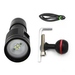Fotografía de disparo bajo el agua a prueba de agua Llene la luz de buceo Luz LED Scuba Torch Bright Video Diving Tool
