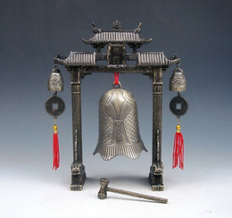 metal gong 2019 - Set Metal Arch Chinese FENG SHUI Carp Fish Dragon Chime Bells Gong Home Decor gift metal handicraft cheap metal gong