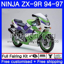 $enCountryForm.capitalKeyWord NZ - Body For KAWASAKI NINJA ZX900 ZX9R 94 95 96 97 221HM.19 ZX 9R 94 97 ZX 9 R 900 900CC Stock green frame ZX-9R 1994 1995 1996 1997 Fairing kit