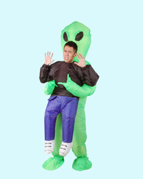 $enCountryForm.capitalKeyWord Canada - Inflatable Monster Costume Scary Green Alien Cosplay Costume for Adult Children Halloween Party Festival Stage Performance Cloth