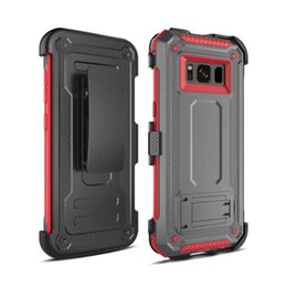 Discount heavy belt clips - Heavy Duty Defender Armor Belt Clip Shockproof Case For Samsung galaxy Note 9 8 S8 S9 Plus A6 A7 A8 Plus J7 2018 A730