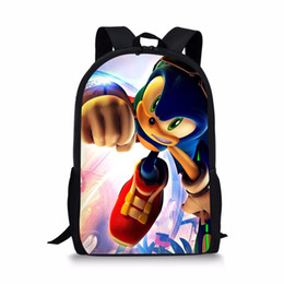 $enCountryForm.capitalKeyWord Canada - FORUDESIGNS 16 inch Sonic the Hedgehog School Bag for Kids Boy Backpack Children School Set Pencil Bag Toddler Schoolbag