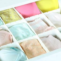 Bra Storage Organizers Canada - 5PCS Drawer Organizer Drawer Divider Plastic Storage Box Home Organizer Sock Underwear Tie Bra Tidy Partition Storage