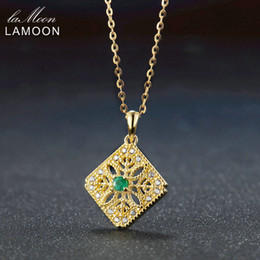 $enCountryForm.capitalKeyWord NZ - LAMOON 3mm 3ct Round Cut Green Emerald 925 Sterling Silver Jewelry Chain Pendant Necklace S925 LMNI056Y1882701