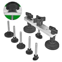 En aluminium 6pcs Extracteur onglets Colle corps Paintless Dent grêle Réparation removal tools