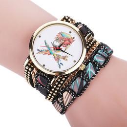 Discount skull pirate watch - Female fashion pirate Skull rivet Bracelet Wrist watch