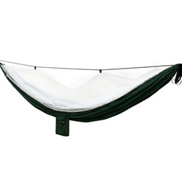 hanging outdoor beds UK - US Fast Delivery 260lb Good Quality Outdoor Hammock Hanging Tree Swing Bed Oxford Waterproof Hammock