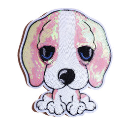 $enCountryForm.capitalKeyWord NZ - embroidery sequined dogs patches for jackets,embroidered dog badges appliques for jeans,patches for clothing A142