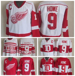 Retro Detroit Red Wings  9 Gordie Howe Hockey Jerseys Home Red Vintage  Winter Classic Red White Gordie Howe Cheap Stitched C Patch gordie howe  jersey cheap ... 316e40f87