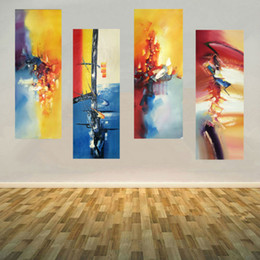 piece paintings Canada - Abstract pattern oil painting 4 Pieces hand painted oil painting on canvas modern wall art picture home decor for living room