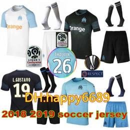 Football Foot NZ - 2018 2019 Adult Kits Olympique De Marseille soccer jersey  18 19 Marseille 0846302e5