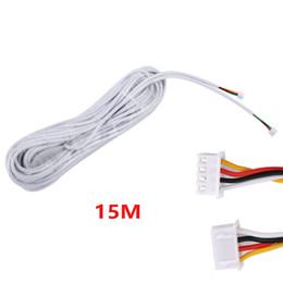 Vente en gros 15M 2.54 * 4P 4 fils de câble pour interphone vidéo couleur vidéo porte téléphone sonnette interphone filaire câble