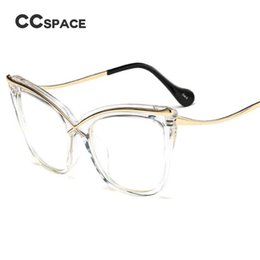 6d9e84bfdbd CCSPACE Ladies Cat Eye Brow Line Glasses Frames Men Women Brand Designer  Optical EyeGlasses Fashion Eyewear 45124