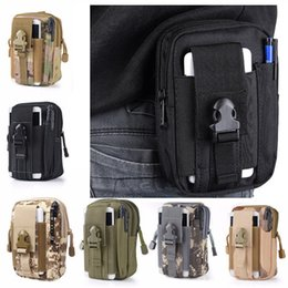 Rugby iphone case online shopping - 5 Inch Outdoor EDC Tactical Molle Waist Bag Pack Men Cell Phone Case Wallet Pouch Holder For iphone SAMSUNG Camping Hiking
