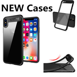 Wholesale iphone protector charger for sale - Group buy Wireless Charger iPhone Plus iPhone X Phone Case Back Cover Case Soft TPU Clear Shockproof Case Phone Protector for Samsung S8
