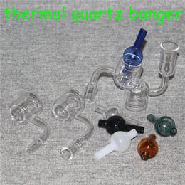 $enCountryForm.capitalKeyWord Australia - Hot sale XXL Thermal Banger Quartz Nail 10mm 14mm 18mm Male Female Double Tube 100% Quartz Thermal Banger For Oil Rigs Glass Bongs