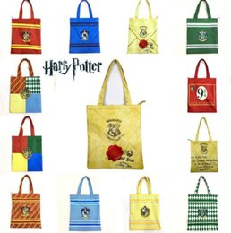 Discount wholesale summer beach bags totes - 11 design harry potter bag Women Hand Summer Beach Tote Handbags Lady Casual Shoulder Bags KKA5777