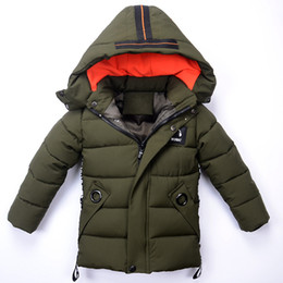 Chinese  Boys Winter Jacket Casual Warm Thick Hooded Coats 2018 Brand Fashion Toddle Baby Boy Outerwear Children Clothing Kids Clothes manufacturers