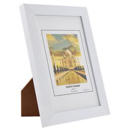 Wholesale Modern Photo Frames UK - White 1Pcs Child Right Angle Photo Frame 6' Home Decor PVC Wedding Pictures Photograph Frames Environmental Protection 10x15cm