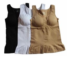 d3e7620540745 Plus Size Genie Bra Cami Tank Top Women Body Shaper Removable Shaper  Underwear Slimming Vest Corset Shapewear