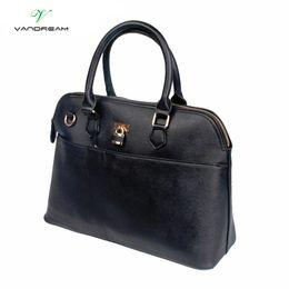 $enCountryForm.capitalKeyWord Canada - Handbag for Women Luxury Leather Handbags Tote Women Messenger Bags Ladies Shoulder Bag Business Fashion Lock High Quality Black