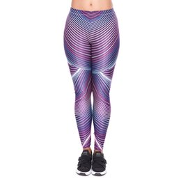 $enCountryForm.capitalKeyWord UK - Women Leggings Futuri Stripes 3D Print Girl Stretchy Pencil Pants Yoga Colorful Pattern Sportwear Elastic Waist Soft Trousers (YX52029)