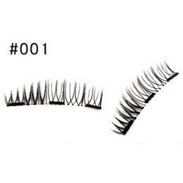 Discount magnetic eyelashes - OutTop 2018 1Pair Double 3D Magnetic False Eyelashes Natural Eye Lashes Extension Handmade 05.22