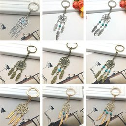 Dreamcatcher Keychain Dream Catcher ciondolo portachiavi Feather portachiavi portachiavi Borsa portachiavi Auto portachiavi accessori moda all'ingrosso