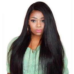 yaki wigs black women NZ - Lace Front Indian Human Hair Wigs For Black Women light yaki Straight remy Wig full lace wig 1# 1b# 2# 4#