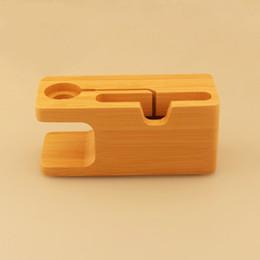 1 pcs estação de carregamento de bambu dock station holder suporte para apple watch iwatch titular caneta de madeira de madeira caixa de lápis home decor