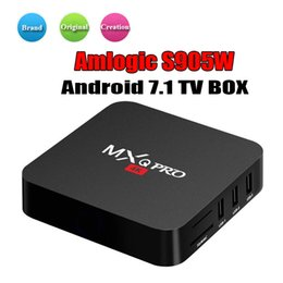 cheapest smart tv box android UK - Cheapest Android 7.1 TV BOX Amlogic S905W MXQ PRO With Original DDR Flash Smart TV Set Top Box support WiFi Best Internet media players