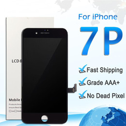 "Iphone Color Lcd White Black Australia - Lcd Display replacement for iphone 7 Plus 5.5"" High quality touch screen digitizer assembly repair parts white black color DHL free shipping"