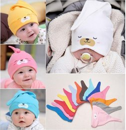 Free Size Cotton Newborn baby list cute new born caps hats baby sleep mask  caps for 0~24 M e31f1a341b8