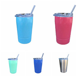 Großhandel Edelstahl Tasse mit Deckel 12oz Vakuum isoliert Bier Tasse Becher Kid Cup Kaffeetassen OOA4688
