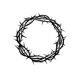 $enCountryForm.capitalKeyWord UK - Artworks Crown of thorns Vinyl Decal Sticker Art Painting Car Stickers Vinyl Decor Decals