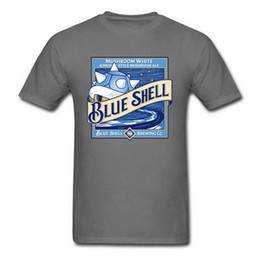 Blue Shell Beer camiseta Super Mario T Shirt Men Tortuga Shell Tops camisetas de algodón Summer Black Clothes Fitness Tshirt