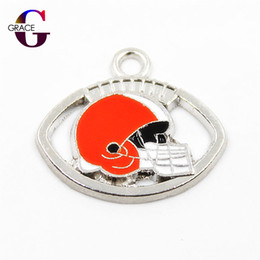 Sports Accessories For Wholesale NZ - 20pcs lot Football Hanging Dangle Charms Sports Charm Floating Charms For DIY Women Bracele&bangles Jewelry Accessory