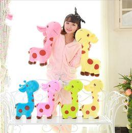 Wedding stuffed animals online shopping - Multicolor Giraffe Plush Doll Kawaii Soft Fluffy Stuffed Animal Fawn Toy Cartoon Wedding Children Birthday Gift bg YY