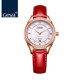 835b40e5970 Geya Luxury Brand Japanese TMI Movement Women Watch Sapphire Waterproof  Leather Female Wristwatch Fashion Quartz Ladies Clock C18111301