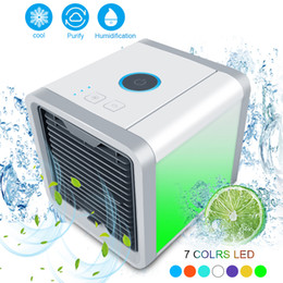 Discount personal cooling fan - 2018 Air Cooler Fan Air Personal Space Cooler Portable Mini Conditioner Device cool soothing wind for Home room Office D